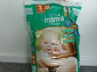 Size 3 nappies, half a pack