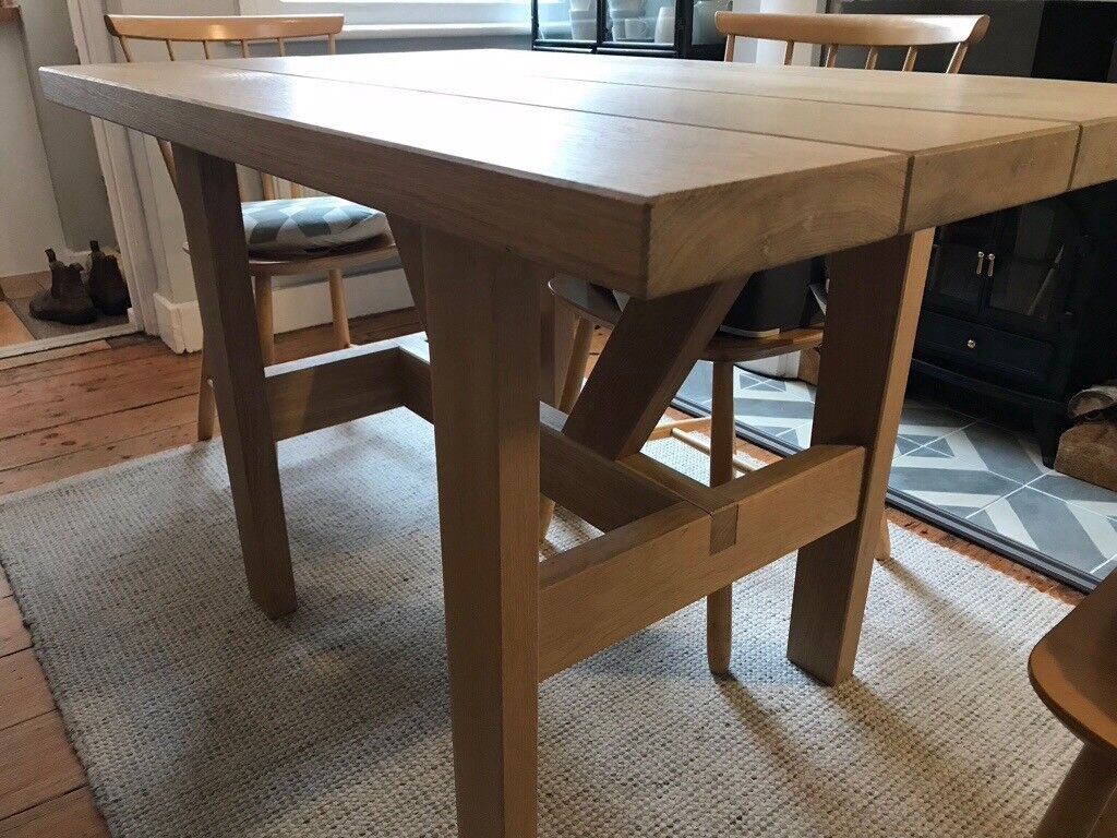 Kingsley solid oak dining table by sofa com