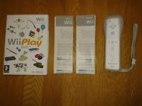 Nintendo Wii Official Remote Control & Wii Play Game As New Condition