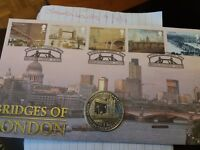 Bridges Of London Crown Coin and Stamp Cover