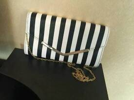 Black and white striped bag