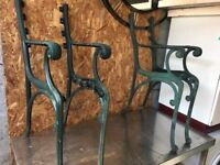 Heavy Sets Of Cast Iron Garden Bench Ends For Self Build 9 Sets Available
