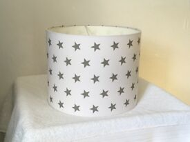 white lightshade with pale grey stars