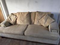 Large cream sofa / settee - high quality