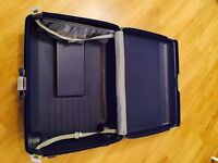 Samsonite Blue two-wheel hard durable plastic suitcase