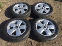 "Mini 15"" 5 stud new shape alloy wheels - excellent tyres"