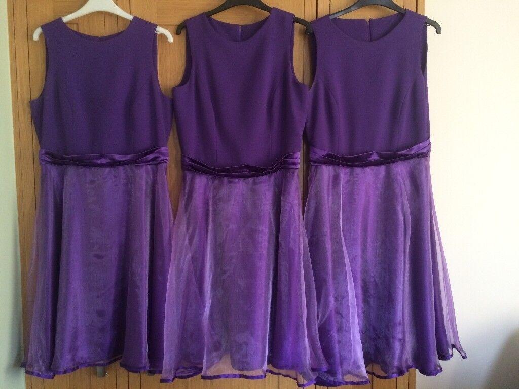 Cadbury purple beautiful hand made bridesmaid dresses. | in Denton ...