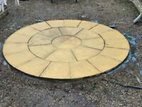 Rotunda paving circle 2.4m diameter FREE TO ANYONE WHO CAN REMOVE IT