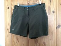 Khaki green women's Rab outdoor shorts walking cycling