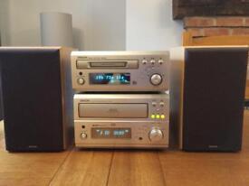 Denon Mini HiFi 3cd changer and minidisc recorder