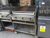 GAS ARCHWAY CHARCOAL BBQ KEBAB GRILL FAST FOOD TAKE AWAY RESTAURANT KITCHEN SHOP 3 BURNER LAVA STONE