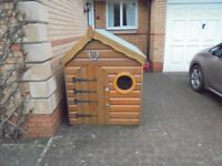Wendy House Larch Wood Construction Solidly Built