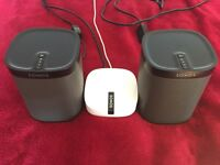 ASAP for sale X2 SONOS Play 1 wireless speakers plus boost great condition