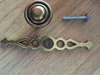 69 Brass Cupboard door Handles Kitchen Wardrobe Antique