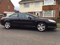2009 Peugeot 407 COUPE HDI 2.0, LOW MILEAGE, FULL HISTORY, FULL LEATHER PX OR SWAP
