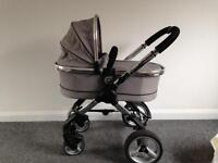 Icandy Peach 2 Silver-Mint (Pram Seat & Carry-Cot)