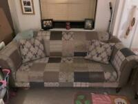 Patchwork sofa suite 3 and 2 seater