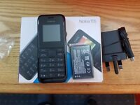 NEW Nokia 105 - Black (Unlocked) Mobile Phone DUAL SIM