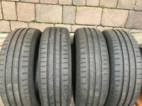 TYRES: 4 x Used Hankook 185/65R15 88H Kinergy Eco2 tyres