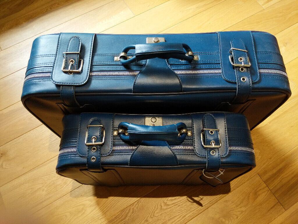 Vintage set of 1960s suitcases in petrol blue | in Barnet, London | Gumtree