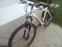 "Carrera Valour mountain bike. 20"" Frame. Suit 5'8""- 6'3"". 21 gears. Used twice"