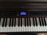 Roland HP-207e Digital Piano with matching Piano Stool