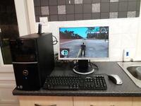 👀LIGHT GAMING PC DELL FULL SETUP INTEL CORE2DUO 3.166GHZ X2 ATI HD 3450 GPU 570GB HDD 3GB RAM👀