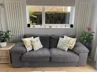 2-3 seater charcoal sofa