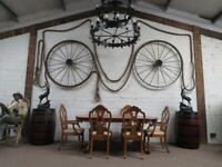 Ornate Oak Table & Chairs