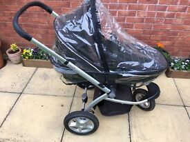 Mothercare My3 Pram Pushchair - Forward or Rear Facing - Car Seat compatible