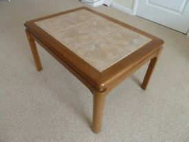 Nathan 1970's Coffee Table Ceramic Tile Top. Teak Legs and Frame. Excellent Condition for Age