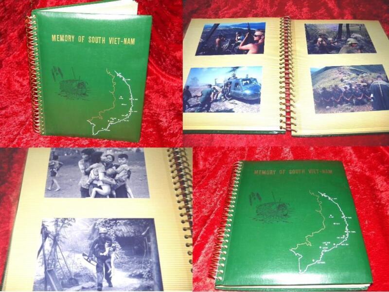 "VIETNAM WAR ORIGINAL PHOTO ALBUM 40 EACH 4"" x 6"" HIGH RESOLUTION COMBAT PHOTO"
