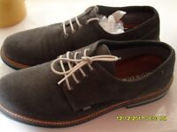 MENS HOWICK SHOES - GREY SUEDE - SIZE 10