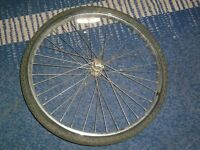 cycle front wheel with tire