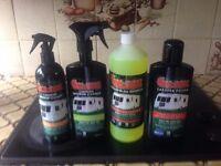 Caravan & Motorhome & Boats Cleaning Wash Kit, Shampoo,Polish,Window & Interior.