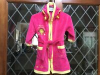 Girls Mothercare Little Miss Sunshne Dressing Gown Age 2/3