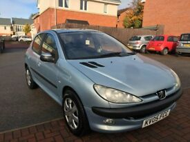 Peugeot 206/New tyres,radiotor & belt/Low mileage/MOT until March'18/Cheap drive