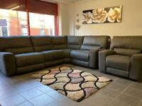 Beautiful ex display brand new electric recliner corner sofa + chair
