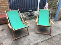 Retro deckchairs
