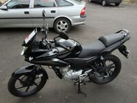 CBF 125, LIKE NEW. Hardly used thats the reason to sell, MOT Till Next September