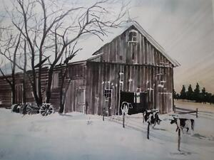 "Robin Zefers Clark-""The Heifer Barn""-Limited Edition Print Kitchener / Waterloo Kitchener Area image 4"