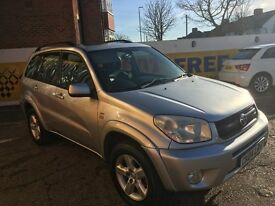 2004 TOYOTA RAV-4 2.0 AUTOMATIC FULL BLACK LEATHERS SUNROOF 106 000 MILES
