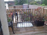 Dog cage black large size never used