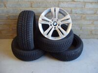 """2297 Genuine 17"""" BMW 392 3 Series F30 4 Series F32 Alloy Wheels And Winter Tyres"""