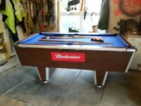 Superleague coin operated pub style pool table - 7ft by 4ft