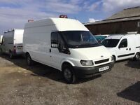 2005 FORD TRANSIT LONG WHEELBASE HIGHTOP LOW MILES IN NICE CONDITION TOW BAR BEACON LIGHT MOT PX..?