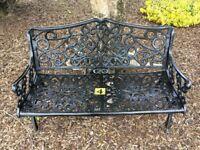4. Flat style garden bench cast iron (patio garden furniture)