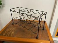 Retro mid century atomic wine rack in black - Tomado style