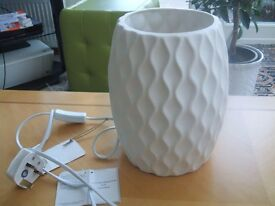 'Wave' White Table Lamp