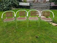 4 x Silver outdoor chairs